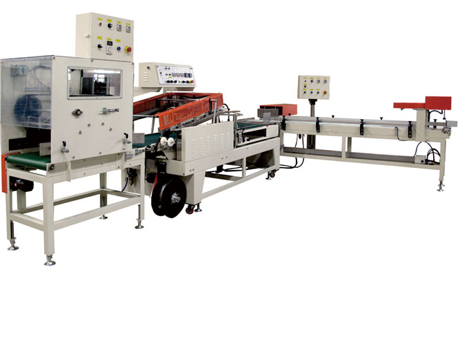 C9A. Shrink packing machine for Tissue / Hand towel bundle and tissue box